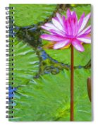 Lotus Blossom And Water Lily Pads Spiral Notebook