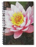 Lotus In The Rain 3 Spiral Notebook