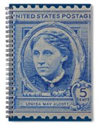 Louisa May Alcott Postage Stamp  Spiral Notebook