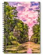 Louisiana Bayou Sunrise Spiral Notebook