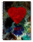 Love Art 3 Spiral Notebook