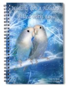 Love At Christmas Card Spiral Notebook