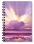 Love At Sunset Spiral Notebook