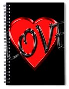 Love Black And Red 1 Spiral Notebook
