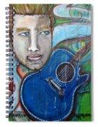 Love For Blue Guitar Spiral Notebook