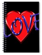 Love In Blue And Red Spiral Notebook