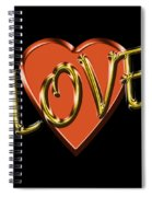 Love In Gold And Copper Spiral Notebook