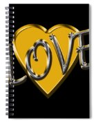 Love In Gold And Silver Spiral Notebook