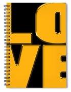 Love In Gold Spiral Notebook