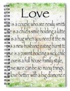 Love Poem In Green Spiral Notebook