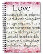 Love Poem In Pink Spiral Notebook