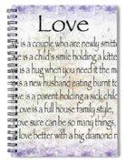 Love Poem In Purple  Spiral Notebook