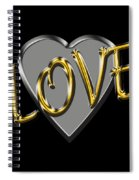 Love In Silver And Gold  Spiral Notebook