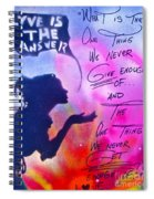 Love Is The Answer Spiral Notebook
