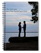 Love Never Goes Spiral Notebook