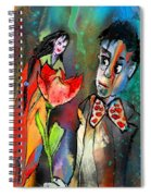 Love Out Of The Blue Spiral Notebook