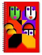 Love Red Spiral Notebook