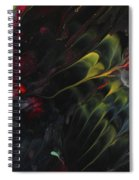 Lovebirds In The Night 01 Spiral Notebook