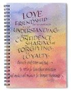 Lovefriendship Spiral Notebook