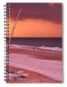 Lovers Embrace On The Shoreline Spiral Notebook
