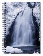 Low Angle View Of A Waterfall, Glenoe Spiral Notebook