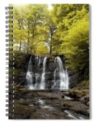 Low Angle View Of A Waterfall In A Spiral Notebook