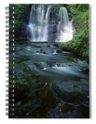 Low Angle View Of A Waterfall Spiral Notebook