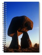 Low Angle View Of Proleek Dolmen Spiral Notebook