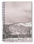 Low Clouds On The Colorado Rocky Mountain Foothills 3 Bw Spiral Notebook