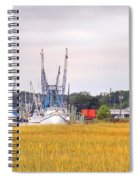 Low County Marsh View Shrimp Boats Spiral Notebook