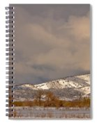 Low Winter Storm Clouds Colorado Rocky Mountain Foothills 2 Spiral Notebook