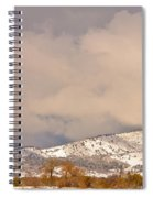 Low Winter Storm Clouds Colorado Rocky Mountain Foothills 4 Spiral Notebook