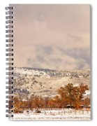 Low Winter Storm Clouds Colorado Rocky Mountain Foothills 6 Spiral Notebook
