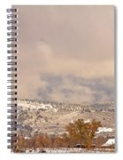 Low Winter Storm Clouds Colorado Rocky Mountain Foothills 7 Spiral Notebook