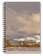 Low Winter Storm Clouds Colorado Rocky Mountain Foothills Spiral Notebook