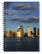 Lower Manhattan At Sunset, Viewed From Spiral Notebook
