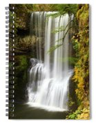 Lower South Falls At Silver Falls Spiral Notebook