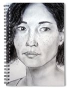 Lucy Liu Portrait Spiral Notebook