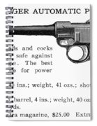 Luger Automatic Pistol Spiral Notebook
