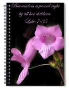 Luke 7 35 Pink Penstemon Flower Spiral Notebook
