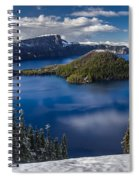 Luminous Crater Lake Spiral Notebook