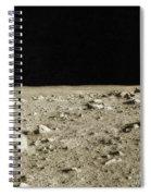 Lunar Surface Spiral Notebook