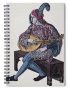 Lute Player, 1839 Spiral Notebook