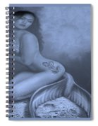 Lydia The Tattooed Mermaid In Cyan Spiral Notebook