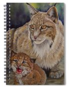 Lynx Mom And Baby Spiral Notebook