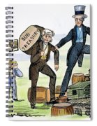 M. Van Buren: Cartoon, 1840 Spiral Notebook