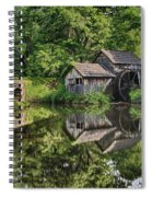 Mabry Mill And Pond With Reflection Spiral Notebook