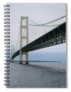 Mackinac Bridge From Water Spiral Notebook