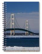 Mackinac Bridge In Winter 2 Spiral Notebook