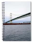 Mackinac Bridge With Ship Spiral Notebook